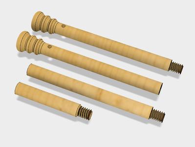 "3D-printable ""Garden"" Flag Rod"