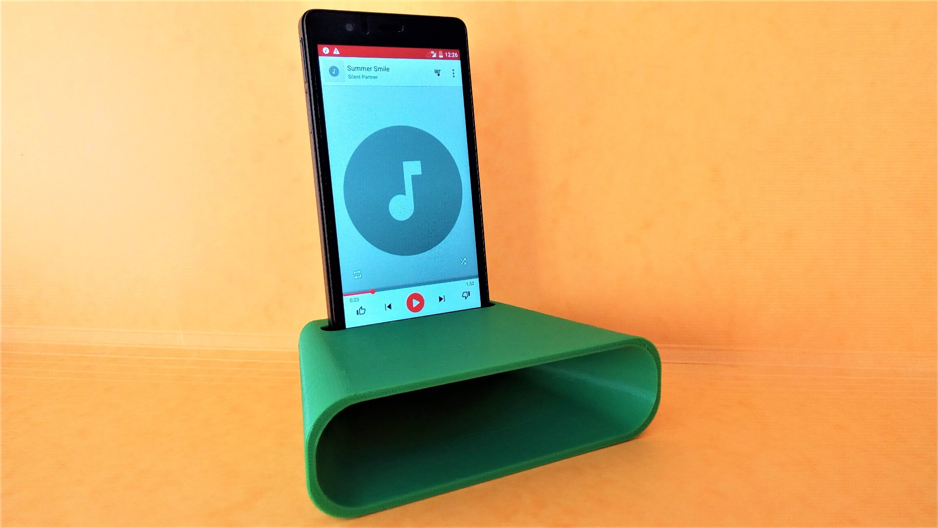 Picture of 3D Printed Phone Amplifier Spicker