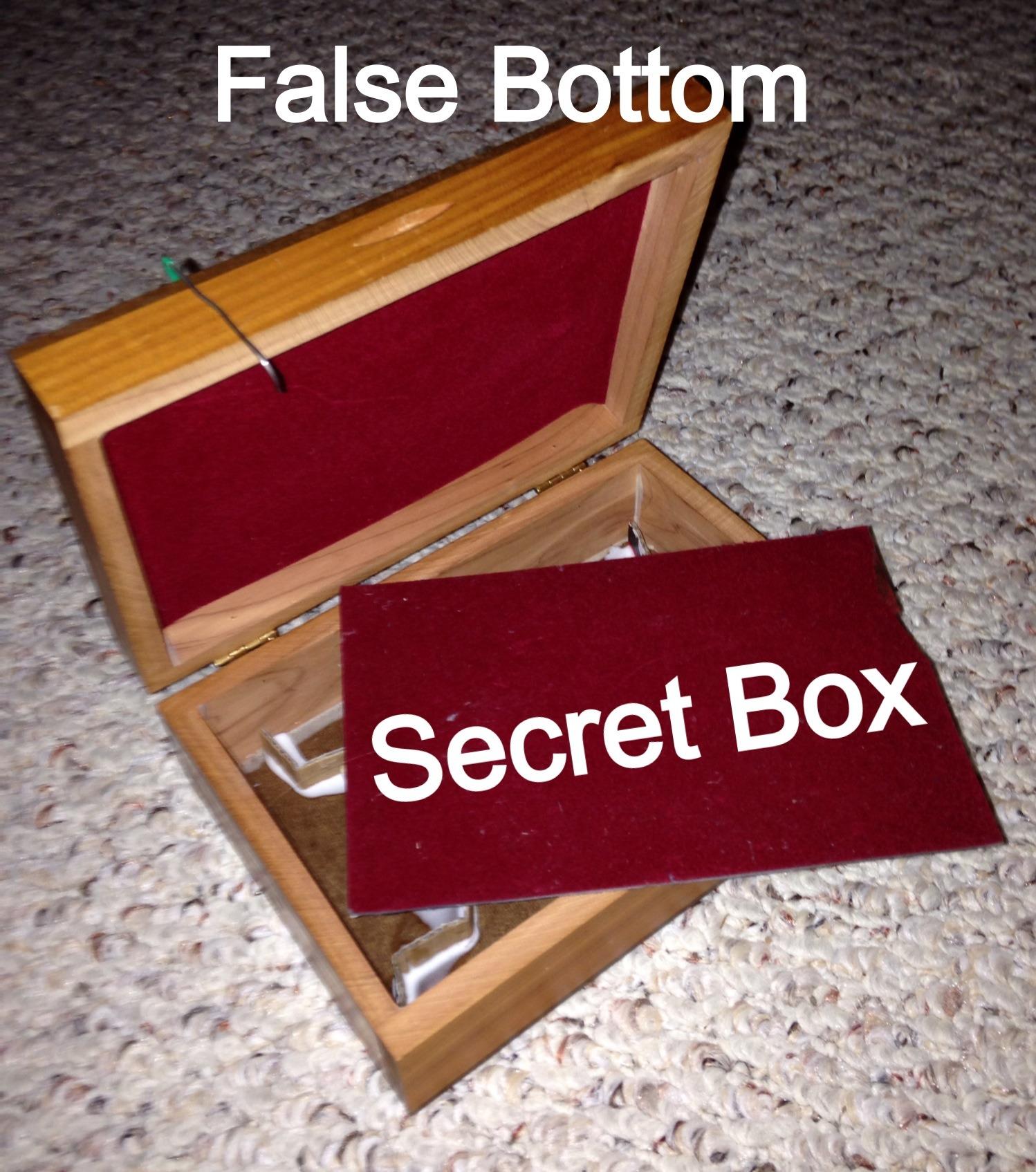 Jewelry Box With False Bottom