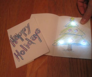 Holiday Greeting Card With Chibitronics LED