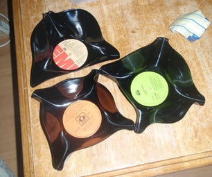 How to Make a Bowl/frisbie Out of an Old Record