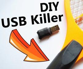 How to Make USB Killer From Bug Zapper Racket !