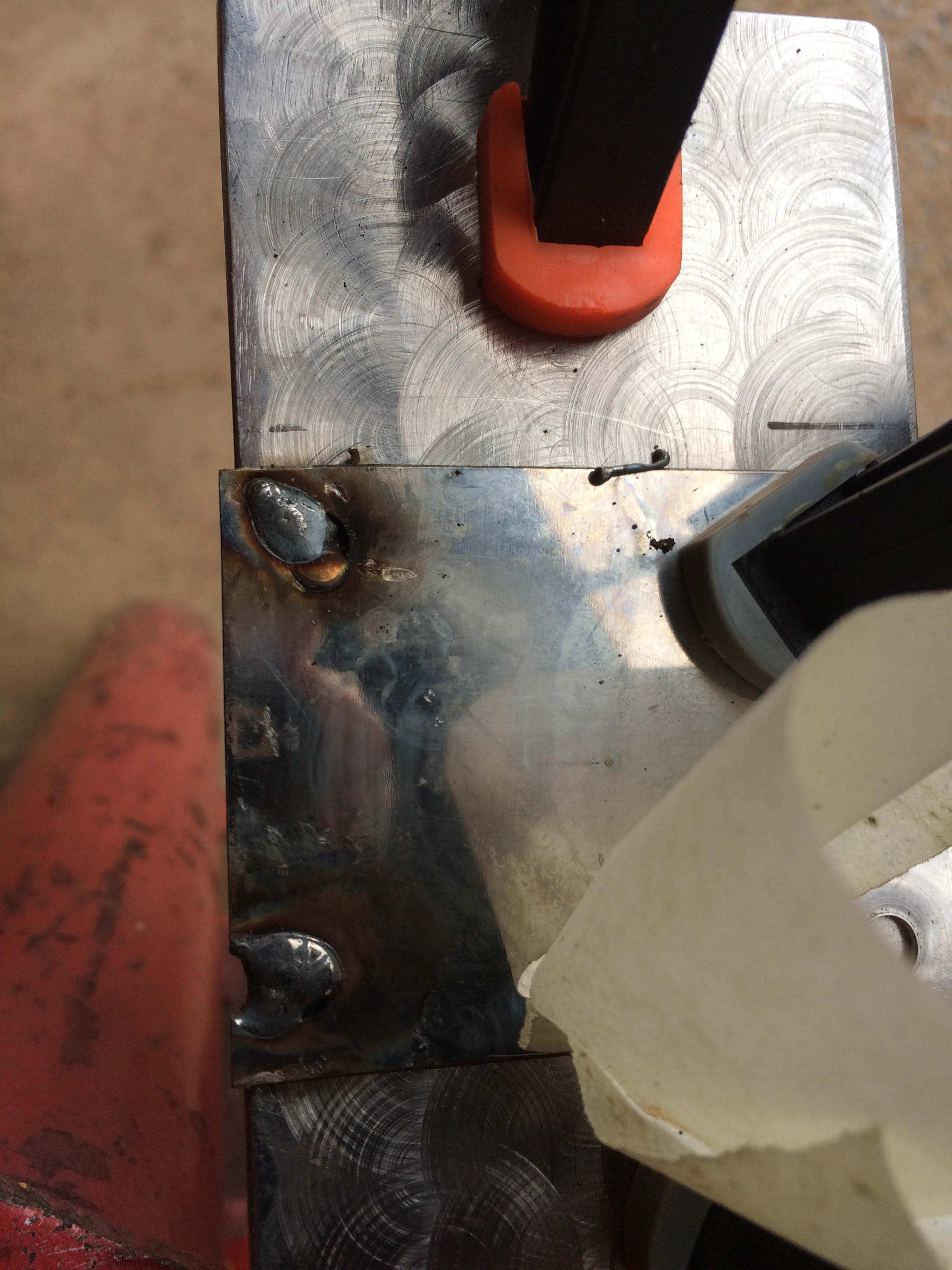 Picture of Welding the Plate on the Front