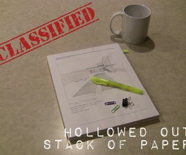 Hollowed Out Stack of Paper