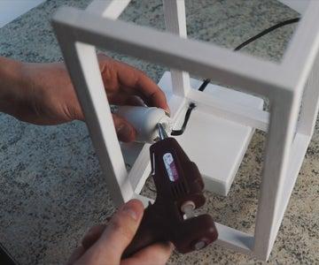 Hot Gluing Bulb Socket