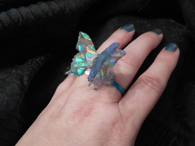 Rings With Spring (Fashion That Flutters With a Flash, of Faux Dichroic Glass)