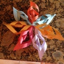 How to make a paper snowflake star