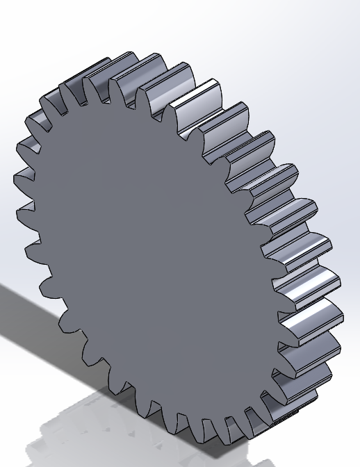 Picture of Modeling a Spur Gear for 3D Printing Applications