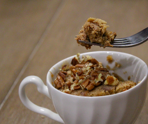 Easy Oatmeal Almond Butter Mug Cake