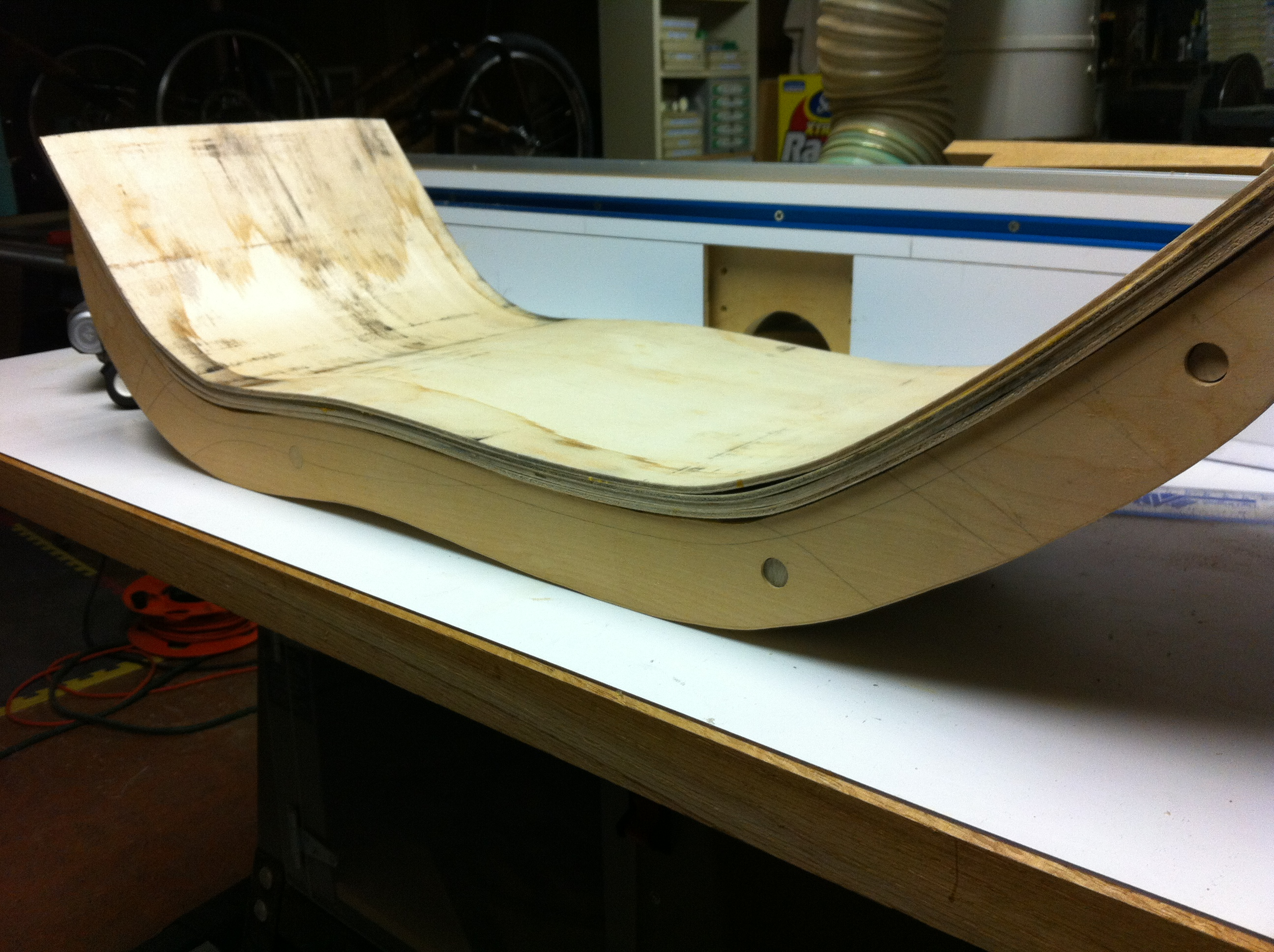 Picture of Gluing the Seat Together