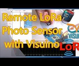 Arduino and Visuino: Long Distance Remote Light Sensor With RFM95W/RFM98W Makerfabs LoRa Shields