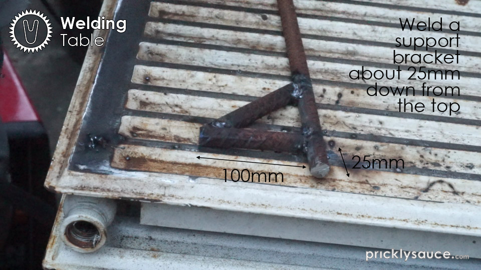 Picture of Weld the Leg Brackets