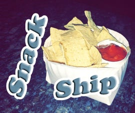 DIY Chips and Salsa Snack Ship