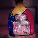 Stained Glass Bottle Lamp