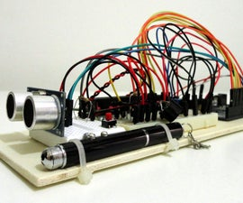 Ultrasonic distance meter with LCD display on Arduino UNO