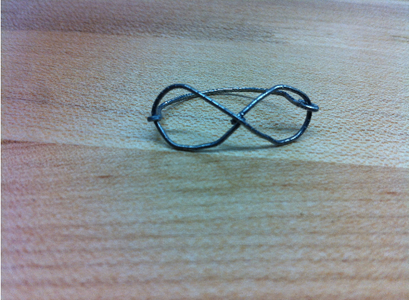 Infinity Paper Clip Ring
