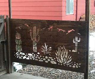 Garden Fence With Look Through Design