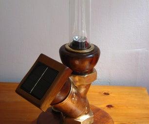 BRONZE Steampunk SOLAR Light,