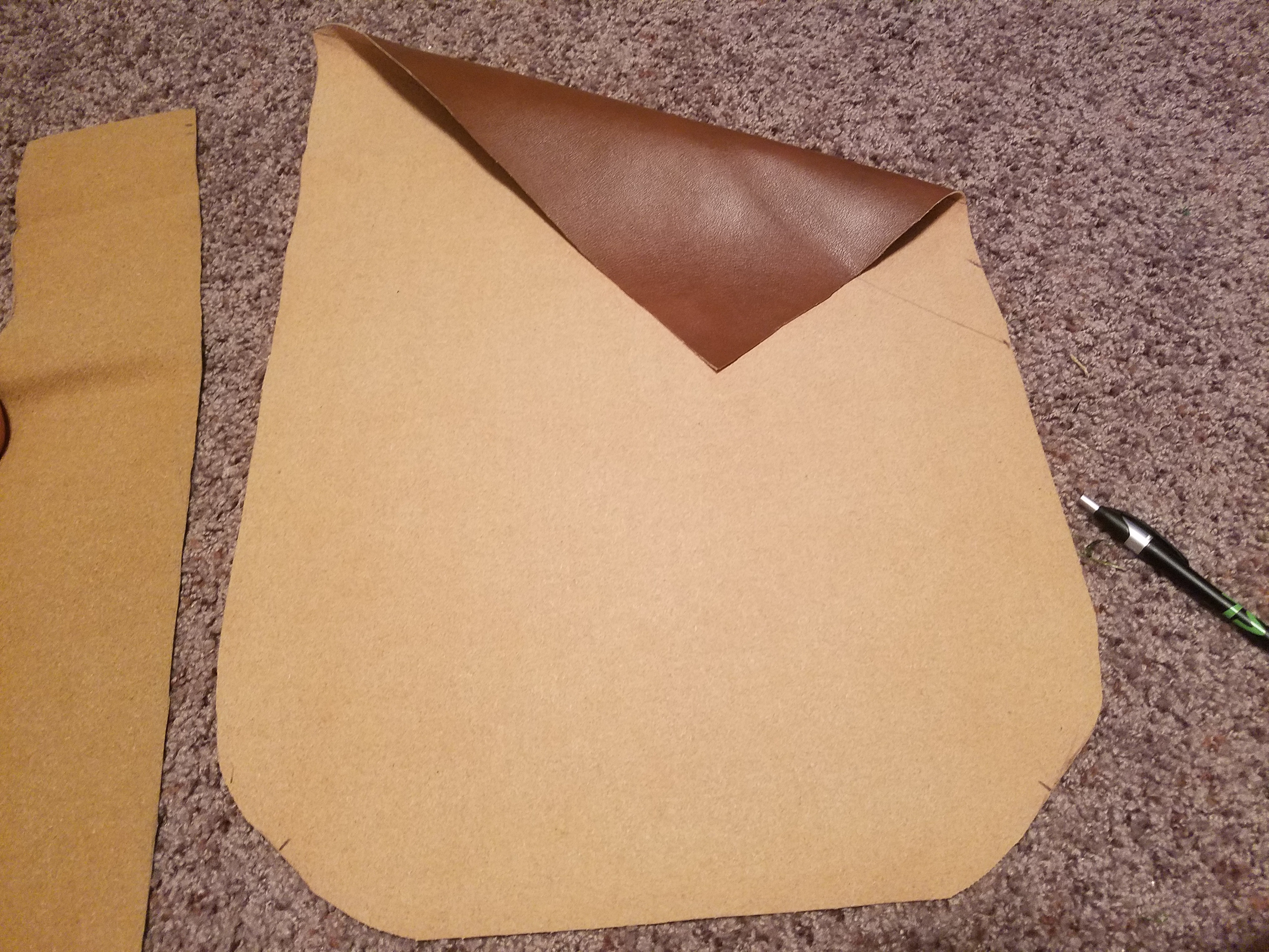 Picture of Cutting the Outward Face ( Reference Layer/Vinyl Layer )