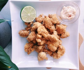 RECIPE | POPCORN CAULIFLOWER & GARLIC AIOLI DIP