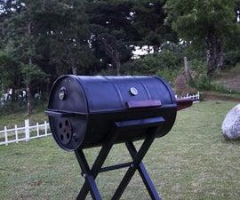 Portable Barrel BBQ Grill