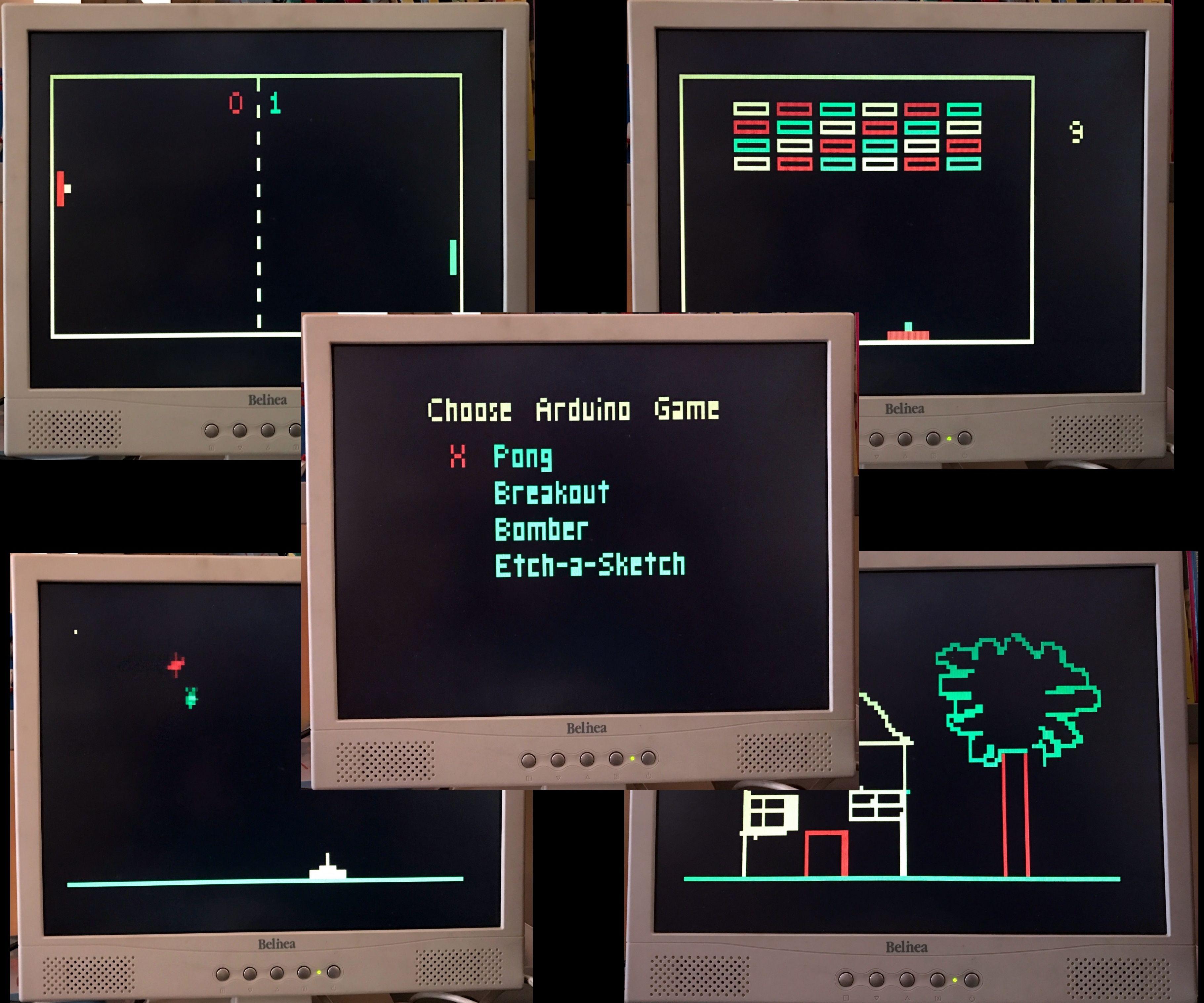 Arduino VGA Games 4-in-1