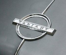 Making a Personalised Car-badge-themed Keyring