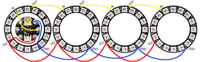Picture of Multiple Independent NeoPixel Rings