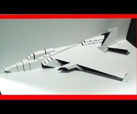 F-15 Fighter Jet Pop Up Card | FREE Template - Kirigami HD!