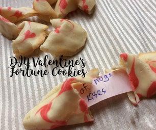 Valentine's Fortune Cookies Homemade
