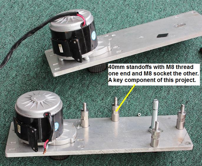 Picture of 40mm Stand-offs Used to Bolt Two Plates Together.