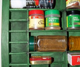 Type Case Printer's Drawer Up-cycled Spice Rack