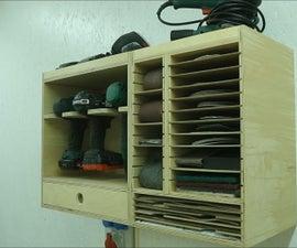Modular Sandpaper Organizer Cabinet