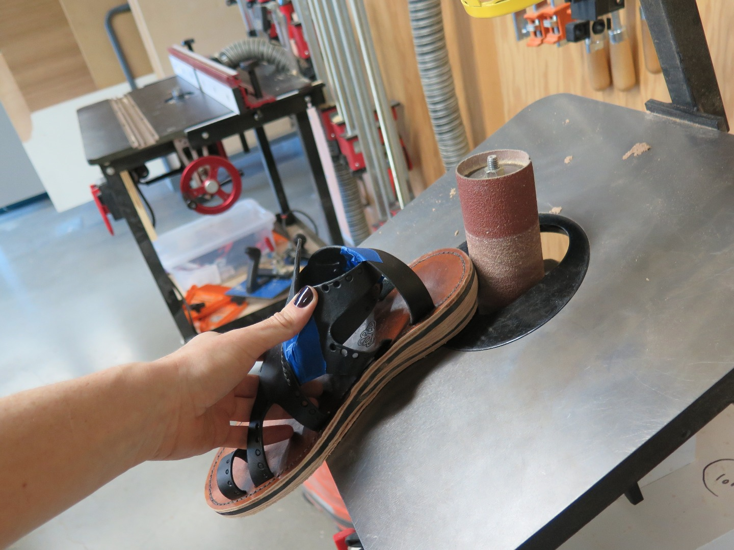 Picture of Sanding the Finished Sole
