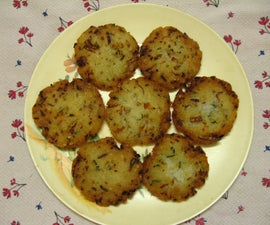 Deep Fried Rice Flake Fritters As Evening Snack