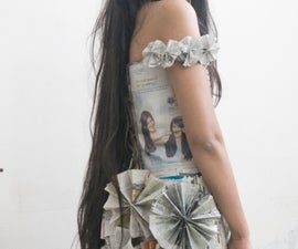 Paper Wearable Art From Newspaper