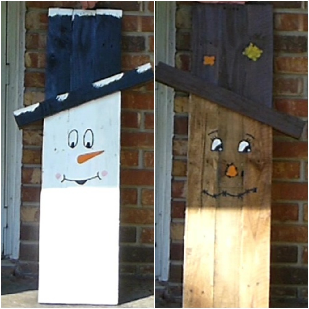 Picture of Pallet Scarecrow/Snowman