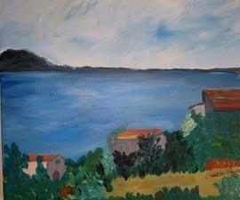 Scenic Seaside Painting
