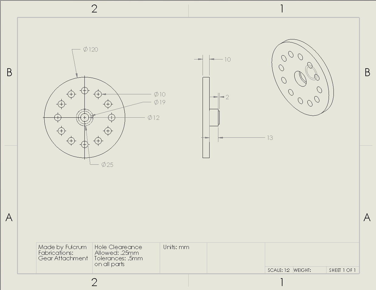 Picture of Gear Attachment Drawing