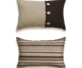 """Make Double-sided Pillow Case With Button Decoration And Envelope Closure 12 x 18 """""""