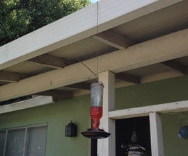 Hummingbird Feeder Hanger And Perch (with Optional Ant Trap)