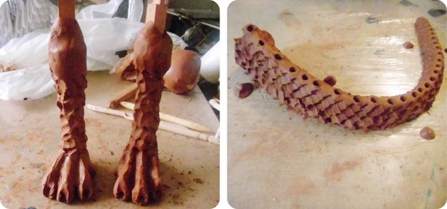 SCULPTING LEGS AND TAIL