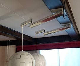 Swing-arm for Lamp (from Old Hang-glider Tube)