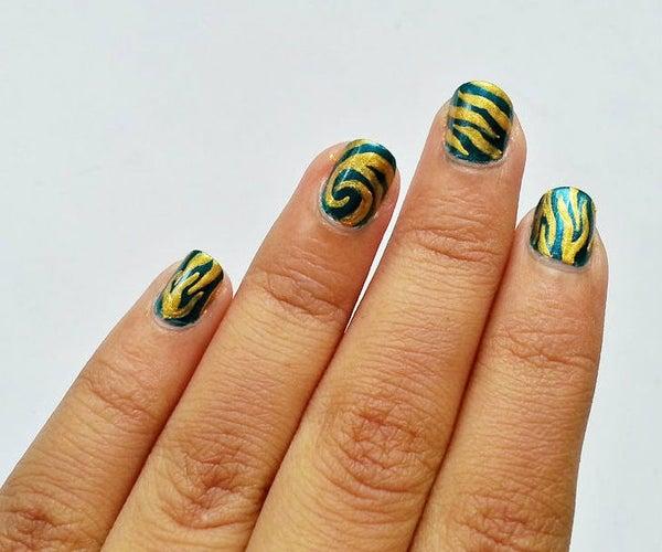 Animal Stripe Nail Art