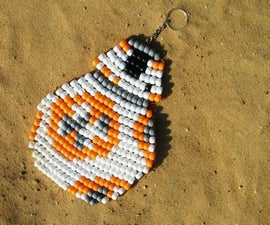BB-8 Pony Bead Keychain Pattern