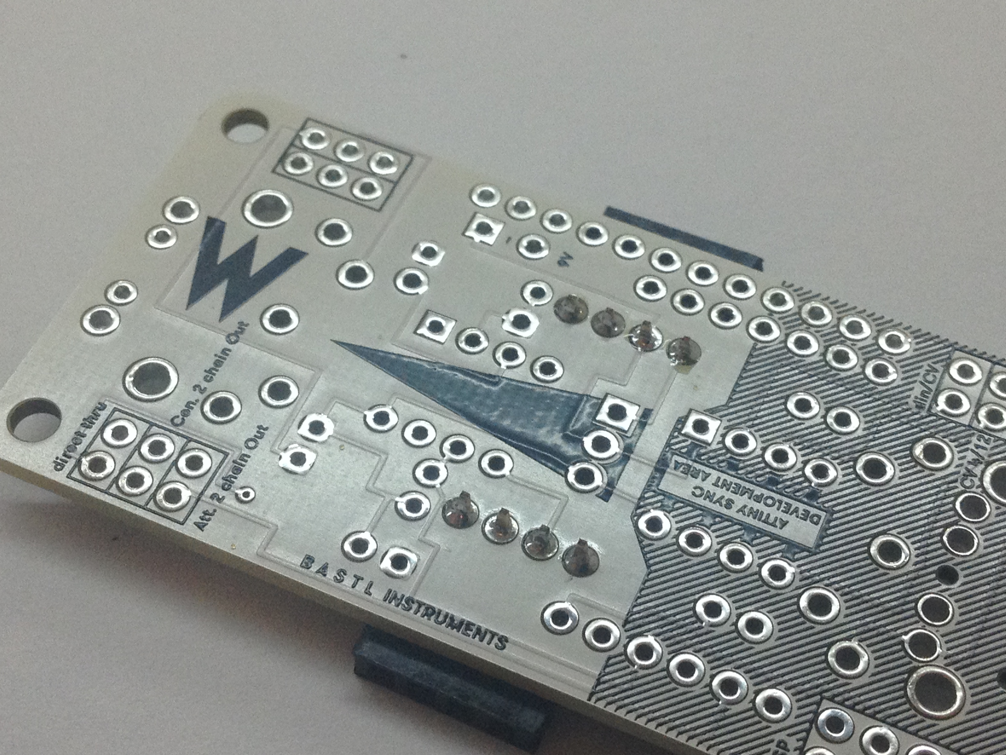 Picture of Solder the 4-pin Headers