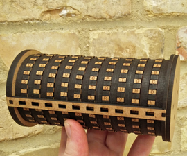 Laser Cut Cryptex - Puzzle Box