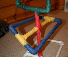 Enrichment for Captive Birds - PVC Perch/Play Stand