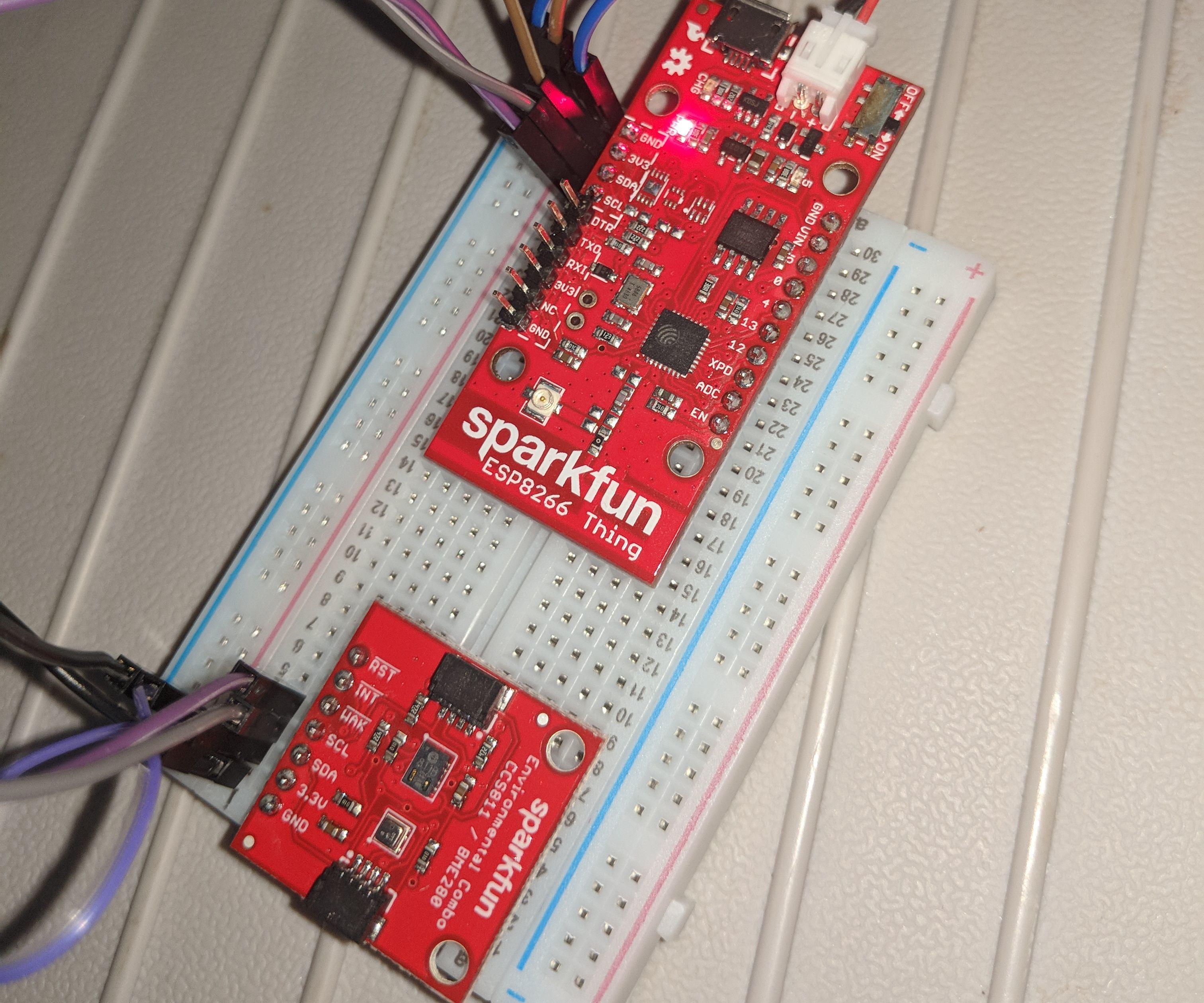 SparkFun ESP8266 Thing With CCS811and BME280, I2C Timing Issue
