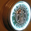 Changing theme of neon light - Starbucks